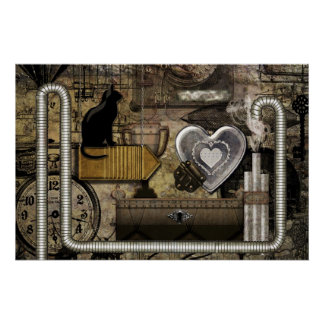 My Steampunk Heart Poster