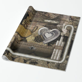 My Steampunk Heart Wrapping Paper