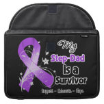 My Step-Dad is a Survivor Purple Ribbon Sleeve For MacBook Pro