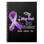 My Step-Dad is a Survivor Purple Ribbon Note Books