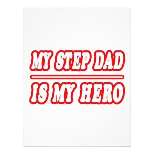 My Step Dad Is My Hero Flyers