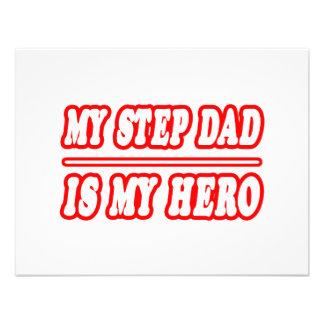My Step Dad Is My Hero Custom Invite