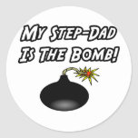 My Step-Dad Is The Bomb Classic Round Sticker
