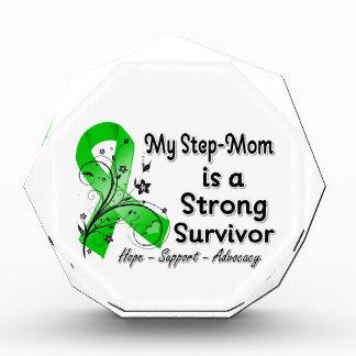 My Step-Mom is a Strong Survivor Green Ribbon Acrylic Award