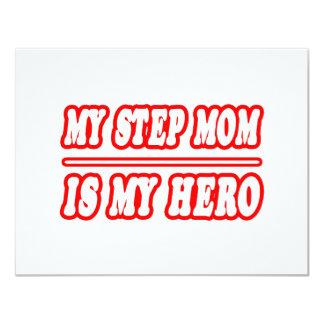 My Step Mom Is My Hero 4.25x5.5 Paper Invitation Card