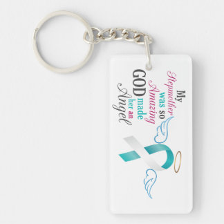 My Stepmother an Angel – Cervical Cancer Keychain