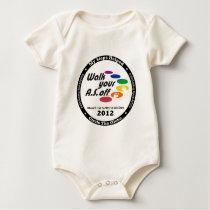 My Steps Helped Circle The Globe - WalkYourASOff Baby Bodysuit