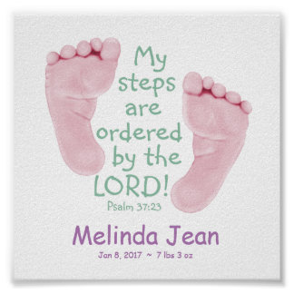 "My Steps Ordered 6""x6"" Baby Art Poster"