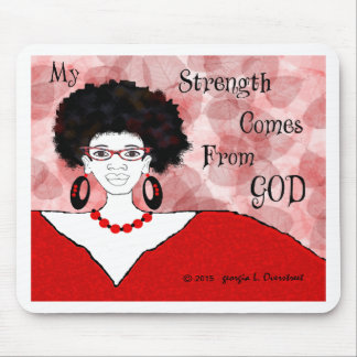 my strength comes from you mouse pad