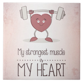 My Strongest Muscle Is My Heart Photo Tile