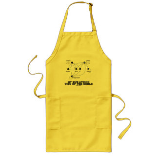My Sub-Atomic View Of The World (Higgs Boson) Long Apron