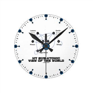 My Sub-Atomic View Of The World (Higgs Boson) Round Clock