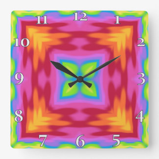 My Summer Impression: Blessed Be, Some Luck found Square Wall Clock