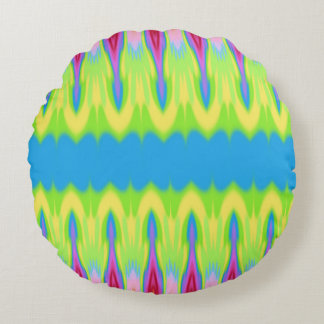My Summer Impression: Hot measure, Rising Heat. Round Pillow