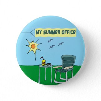 My Summer Office Button button