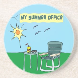 My Summer Office Coaster coaster