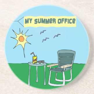 My Summer Office Coaster