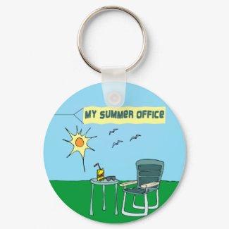 My Summer Office Keychain keychain