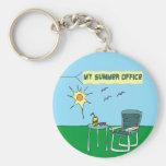 My Summer Office Keychain