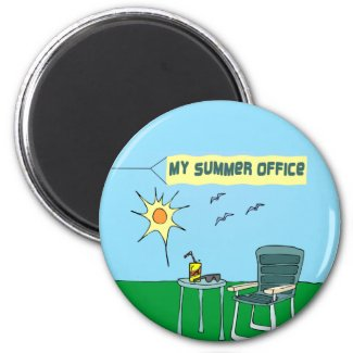 My Summer Office Magnet magnet