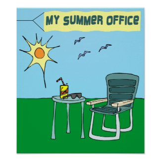 My Summer Office Poster print