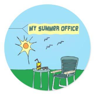 My Summer Office Sticker sticker