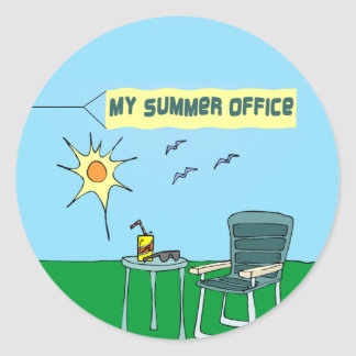 My Summer Office Sticker