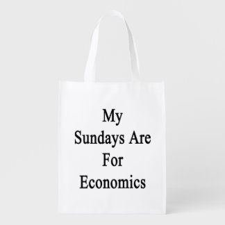 My Sundays Are For Economics Reusable Grocery Bag