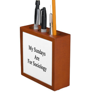 My Sundays Are For Sociology Pencil/Pen Holder