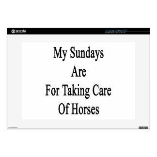 My Sundays Are For Taking Care Of Horses Laptop Decals