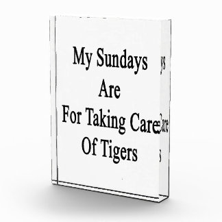 My Sundays Are For Taking Care Of Tigers Award