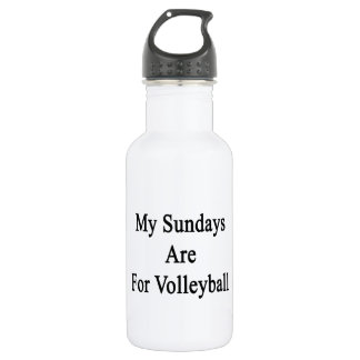 My Sundays Are For Volleyball 18oz Water Bottle