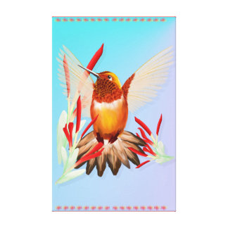 My Sunny Hummingbird Gallery Wrapped Canvas