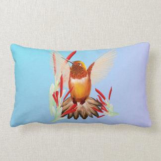 My Sunny Hummingbird Lumbar Pillow