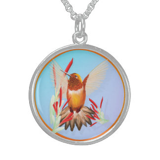 My Sunny Hummingbird Sterling Silver Necklace