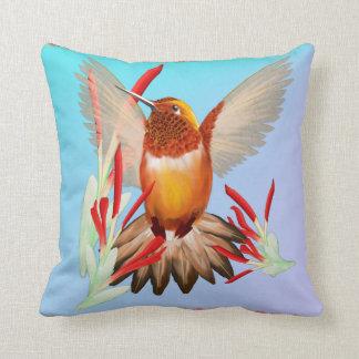 My Sunny Hummingbird Throw Pillow