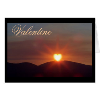 My Sunny Valentine Heart Sunset Card