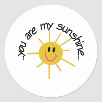 My Sunshine Classic Round Sticker