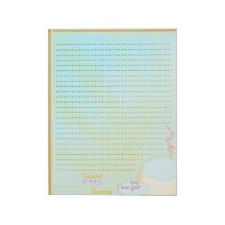 My Sunshine Notepad