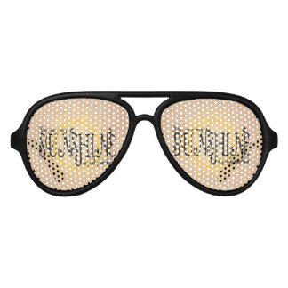 My Sunshine on Burlap Aviator Sunglasses