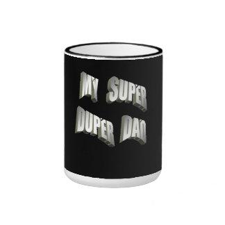 my super duper dad black coffee mug