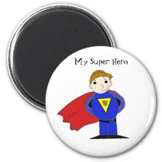 My Super Hero 2 Inch Round Magnet