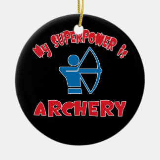 My Superpower is Archery Christmas Ornament