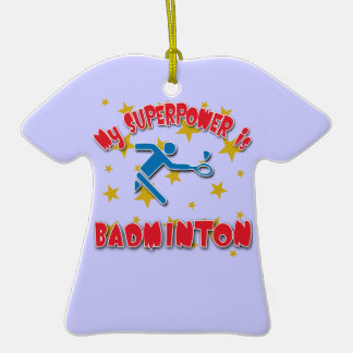 My Superpower is Badminton Christmas Tree Ornaments