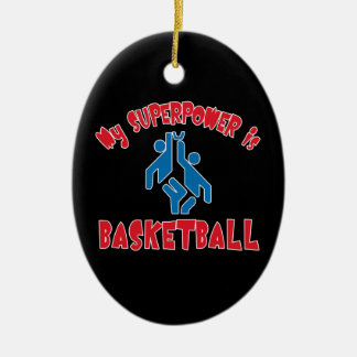 My Superpower is Basketball Ornament