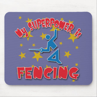 My Superpower is Fencing Mouse Pad