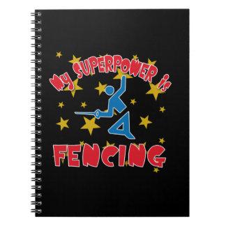My Superpower is Fencing Spiral Notebook