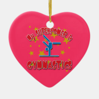 My Superpower is Gymnastics Ceramic Ornament