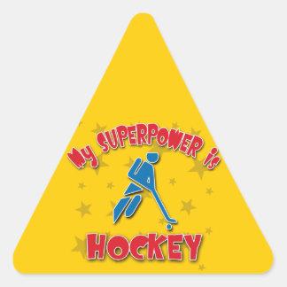 My Superpower is Hockey Triangle Sticker