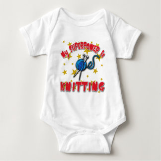 My Superpower is Knitting Baby Bodysuit